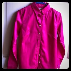 Banana republic hot pink magenta long sleeve top